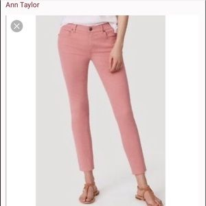 Pretty in Pink Ann Taylor Modern skinny pants